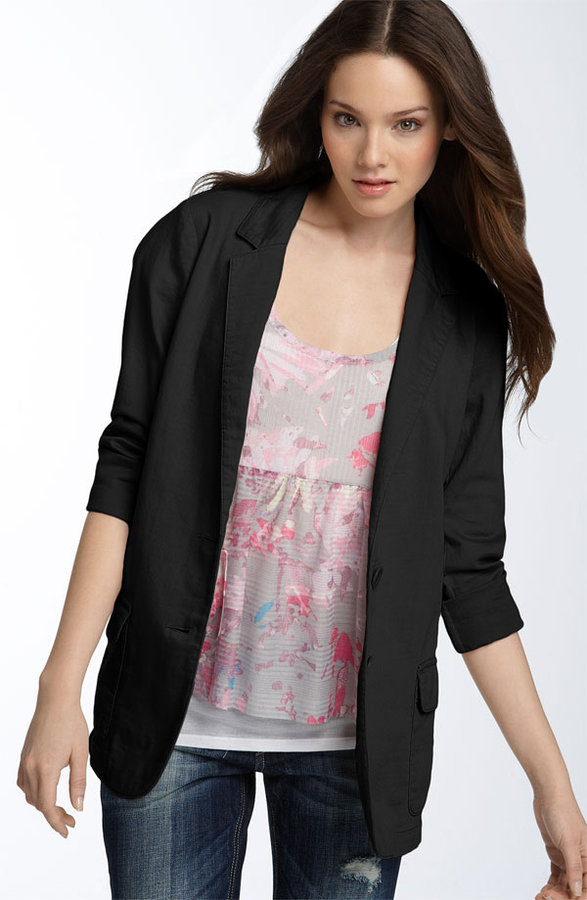 Hinge® Cotton Twill Boyfriend Blazer
