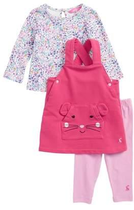 Joules Tee, Pinafore Dress & Leggings Set