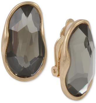Robert Lee Morris Soho Gold-Tone Stone Clip-On Drop Earrings