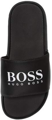 HUGO BOSS Logo Rubber Slide Sandals