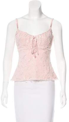 Ermanno Scervino Sequined Sleeveless Top w/ Tags
