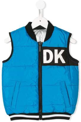 DKNY (ディー ケー エヌワイ) - Dkny Kids reversible zip-up gilet