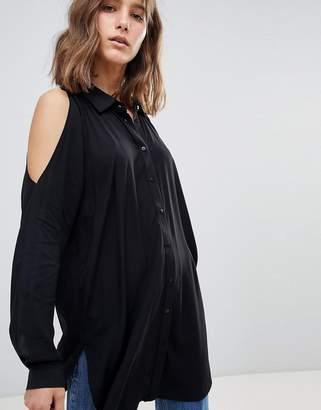 Just Female Arch Cold Shoulder Long Shirt