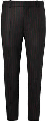 Alexander McQueen Black Slim-Fit Pinstriped Wool-Twill Suit Trousers