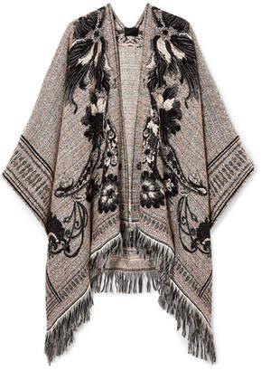 Etro Fringed Jacquard-knit Wrap - Beige
