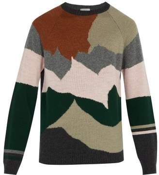 Lanvin Intarsia Knit Wool And Cashmere Blend Sweater - Mens - Multi