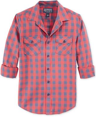 American Rag Men's Banarama Checked Shirt, Created for Macy's