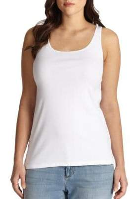 Eileen Fisher Eileen Fisher, Plus Size Plus System Organic Cotton Tank Top