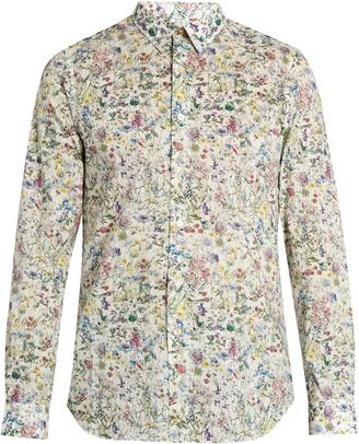 PAUL SMITH Floral-print cotton shirt $181 thestylecure.com