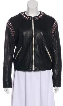 Etoile Isabel Marant Studded Leather Jacket w/ Tags