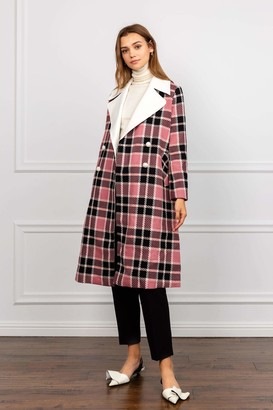 J.ING Franny Pink Plaid Coat