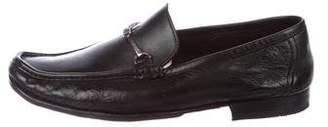 Bruno Magli Leather Round-Toe Loafers