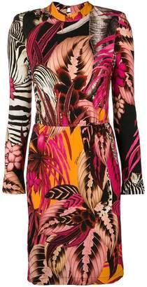 Just Cavalli tropical-print pencil dress