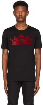Dolce & Gabbana Black Crown T-Shirt