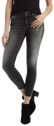 Mavi Jeans Adriana Raw-Hem Skinny Jeans in Gray Every