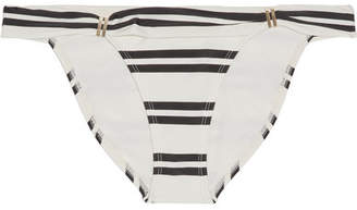 Vix Classic Bia Tube Striped Bikini Briefs - Cream