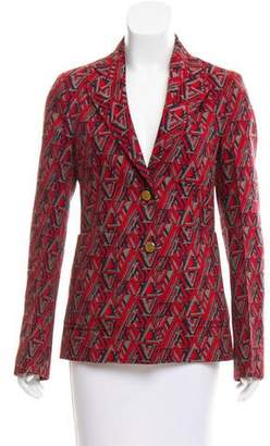 Louis Vuitton Patterned Logo Blazer
