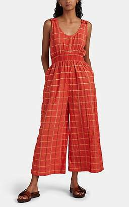 Ace&Jig Women's Ferris Metallic Checked Cotton-Blend Jumpsuit - Orange