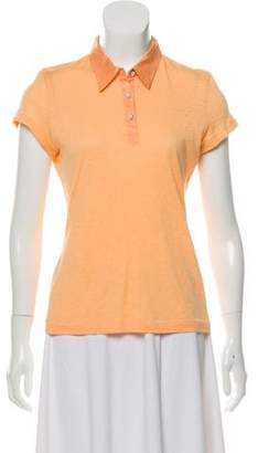 Rag & Bone Collared Short Sleeve Top