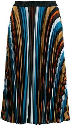 Steffen Schraut striped pleated skirt
