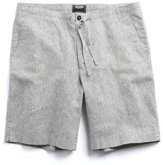 "Todd Snyder Striped 9"" Drawstring short in Charcoal Stripe"
