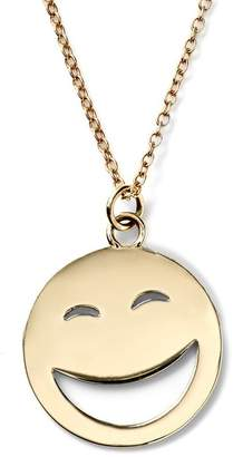 Alison Lou 14K Gold Large ROTFL Face Necklace