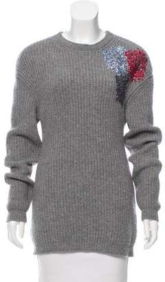 No.21 No. 21 Wool Sequin-Accented Sweater