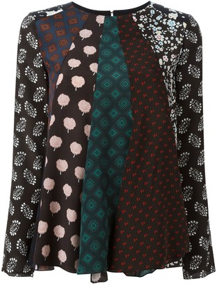 Lanvin patchwork pattern blouse