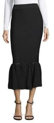 Jonathan Simkhai Perforated Knit Midi Skirt