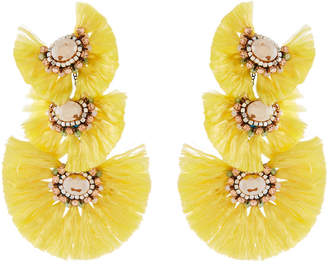 Nakamol Triple-Drop Fringe Earrings, Yellow