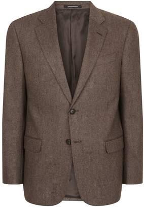 Emporio Armani Herringbone Suit Jacket