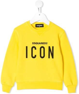 DSQUARED2 icon print logo sweatshirt