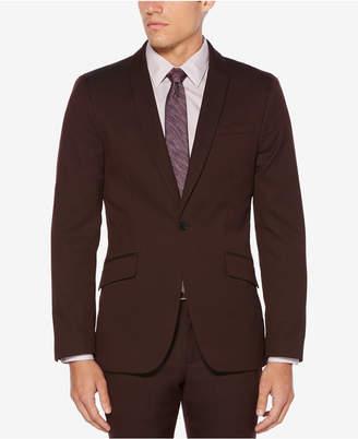 Perry Ellis Men's Slim-Fit Chocolate Cherry Textured Sport Coat