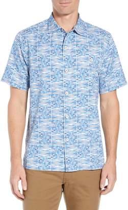 Tommy Bahama Rio Geo Short Sleeve Silk Blend Sport Shirt