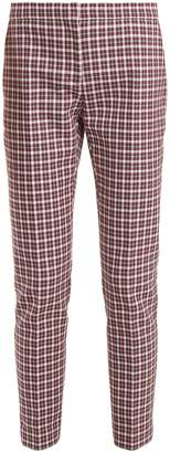 Burberry Hanover checked cotton-blend cropped trousers