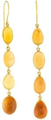 18K Opal Drop Earrings