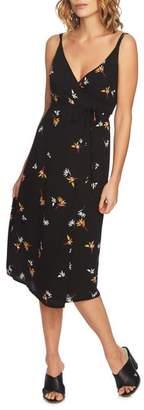 1 STATE 1.STATE Print Wrap Midi Dress