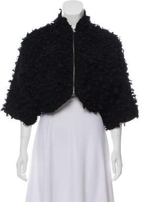 Noir Kei Ninomiya Textured Cropped Jacket