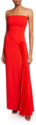 SOLACE London Dolly Strapless Pleated Maxi Dress