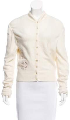 John Galliano Angora-Blend Embroidered Cardigan
