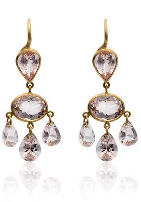 Marie Helene De Taillac Morganite Gabrielle d'Estree earrings