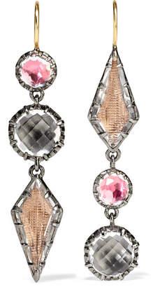 Larkspur & Hawk - Sadie Rhodium-dipped Amethyst Earrings - Silver