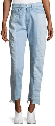 Etienne Marcel Reily Two-Tone Light-Wash Straight-Leg Jeans