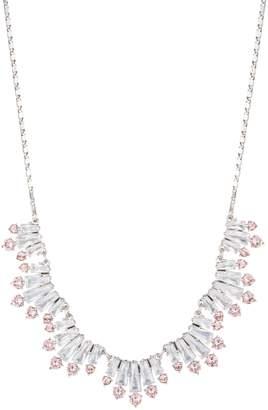 Carolee Blushing Bride Crystal Frontal Necklace