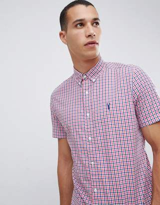 Next slim fit shirt in pink check