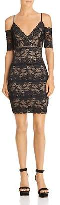 GUESS Marcy Lace Cold-Shoulder Dress