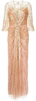 Jenny Packham sequin plunge gown