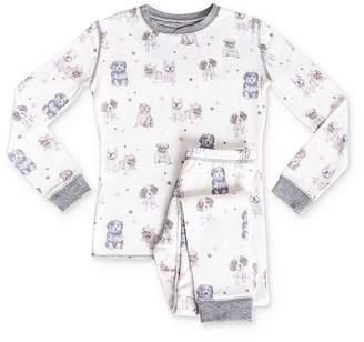 PJ Salvage Girls' Dog Tee & Pants Pajama Set - Little Kid, Big Kid