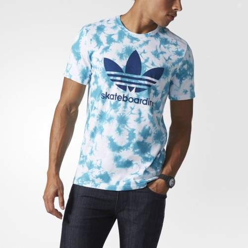 adidas Originals Men's Adidas Skateboarding Graphic Tee (large) (Energy Blue/Crystal, Large)