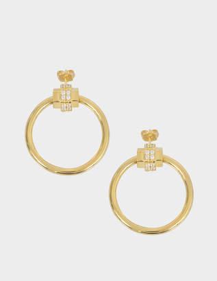 Joanna Laura Constantine Nut hoop earrings
